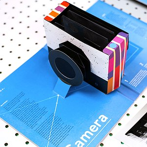 BOOK/MAGAZINE This Book is a Camera (pop-up camera by Kelli Anderson)