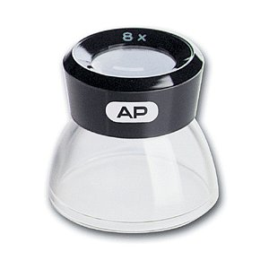 AP 8x Loupe, Plastic With Transparent Foot