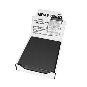DELTA 1 Gray Card 18x24cm, Stiff Cardboard With Zone System Printed On The Rear Side