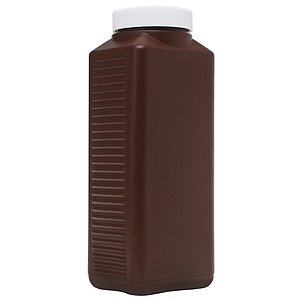 FOTOIMPEX Wide-Mouth Plastic Chemical Bottle 1000ml Brown